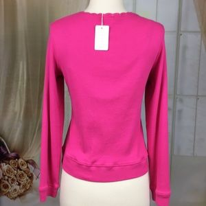 Loulou Tops - Loulou Berry Colored Long Sleeved Knit Top